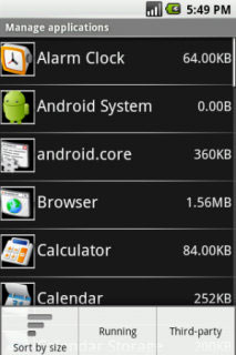Android OS 1.5 (Cupcake)